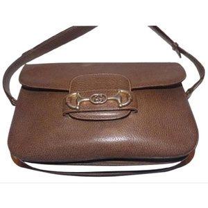 vintage Gucci 1955 Horsebit leather shoulder bag